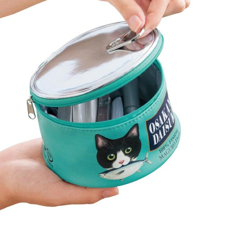 Neceser kawaii estilo lata de comida para gatos 4