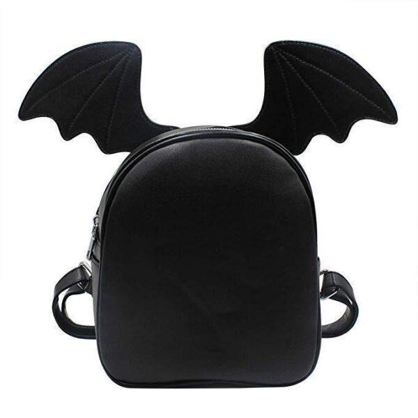 Mochila negra goth con alas de murciélago intercambiables