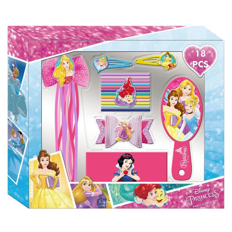 Set accesorios cabello Princesas Disney 18pz