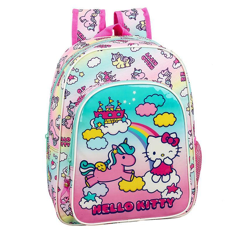 Mochila Hello Kitty Candy Unicorn adaptable 34cm
