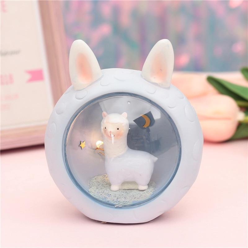 Cute kawaii alpaca lamp (PINK) 6