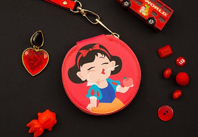 Bentoy moda dibujos animados pequeño monedero cartera mujer cremallera dinero bolsa llavero para bolso bolsa caja almacenamiento redonda para auriculares 1