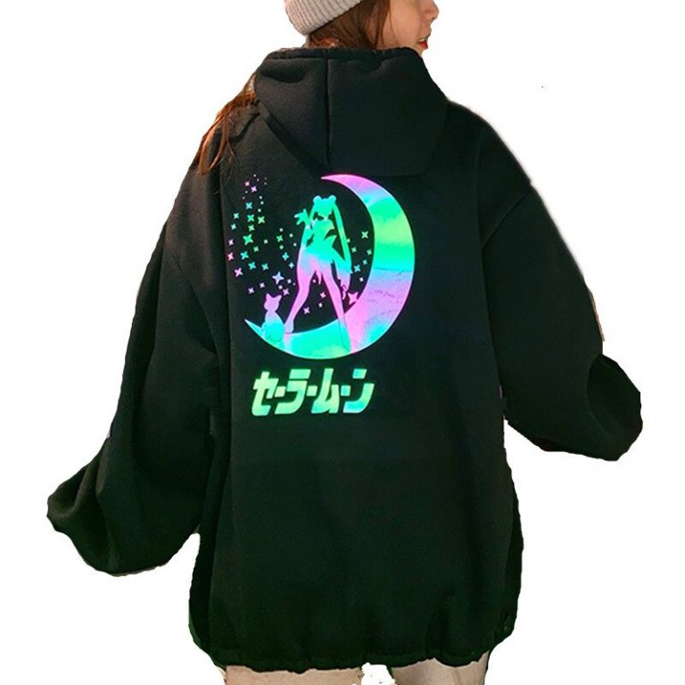 Sailor Moon Hoodie Jacket Reflectant Iriscend