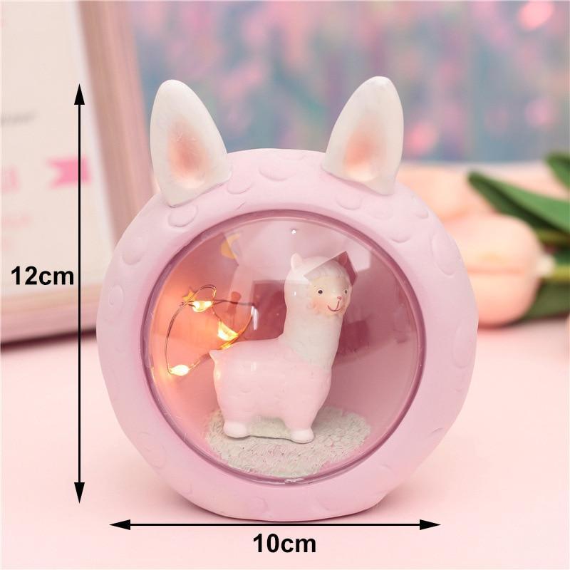 Cute kawaii alpaca lamp (PINK) 9