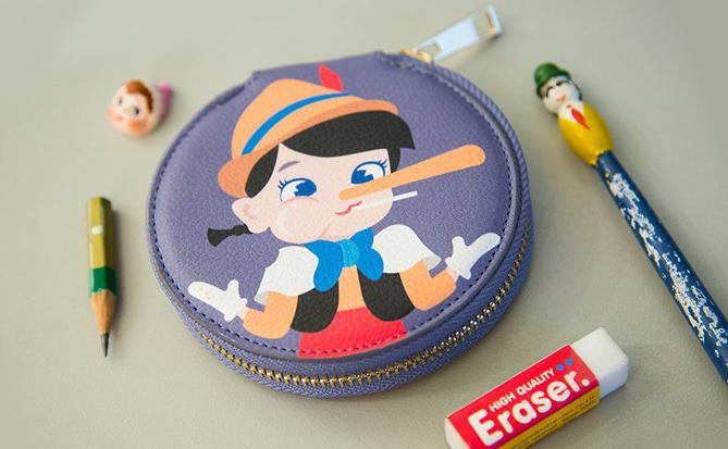 Bentoy moda dibujos animados pequeño monedero cartera mujer cremallera dinero bolsa llavero para bolso bolsa caja almacenamiento redonda para auriculares 4