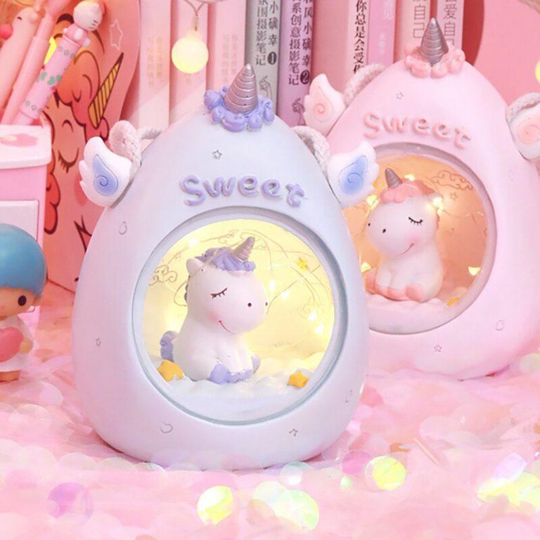 Cute kawaii alpaca lamp (PINK) 4