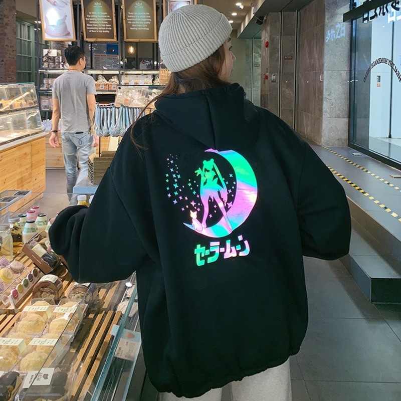 Sailor Moon Hoodie Jacket Reflectant Iriscend 2