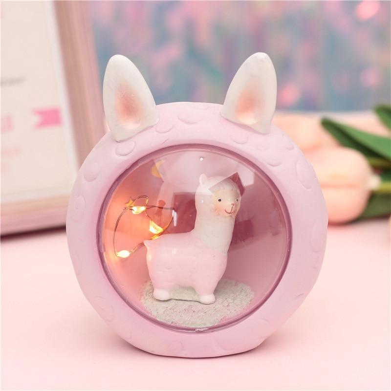 Cute kawaii alpaca lamp (PINK) 5