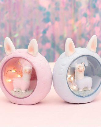 Cute kawaii alpaca lamp (PINK)