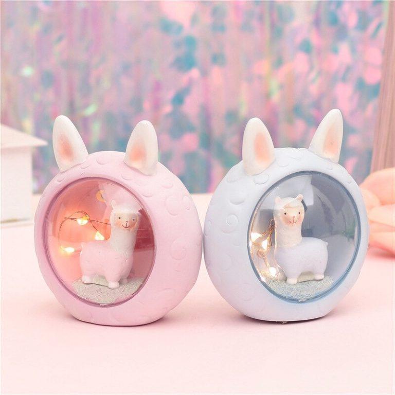 Cute kawaii alpaca lamp (PINK)