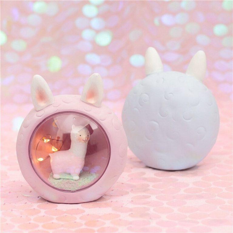 Cute kawaii alpaca lamp (PINK) 2