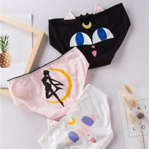 Braguitas de algodón de Sailor Moon en 4 modelos diferentes a elegir