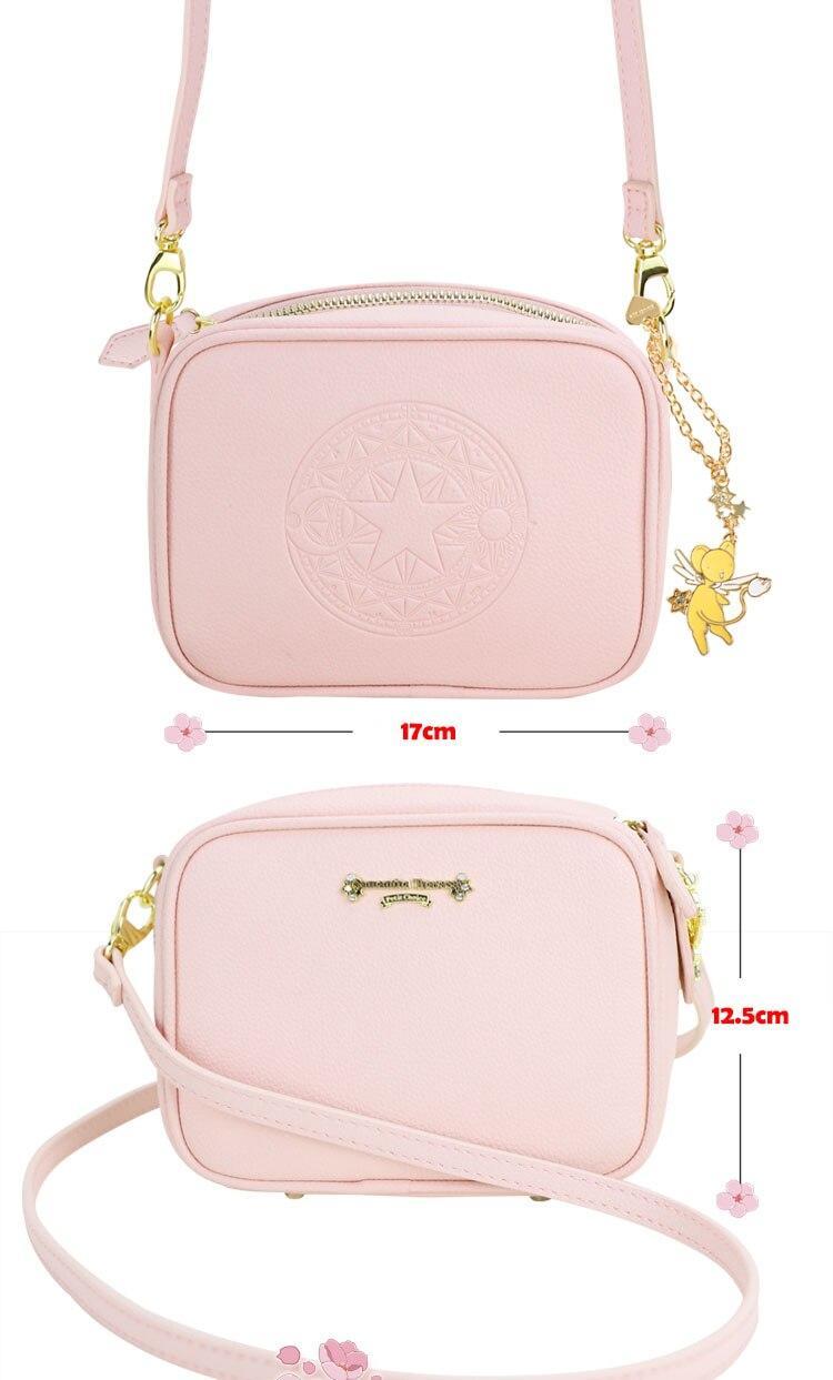 Precioso bolso de mano de Card Captor Sakura color rosa palo 6