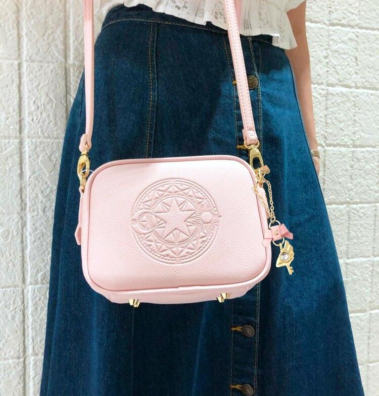 Precioso bolso de mano de Card Captor Sakura color rosa palo 8