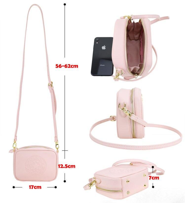 Precioso bolso de mano de Card Captor Sakura color rosa palo 7
