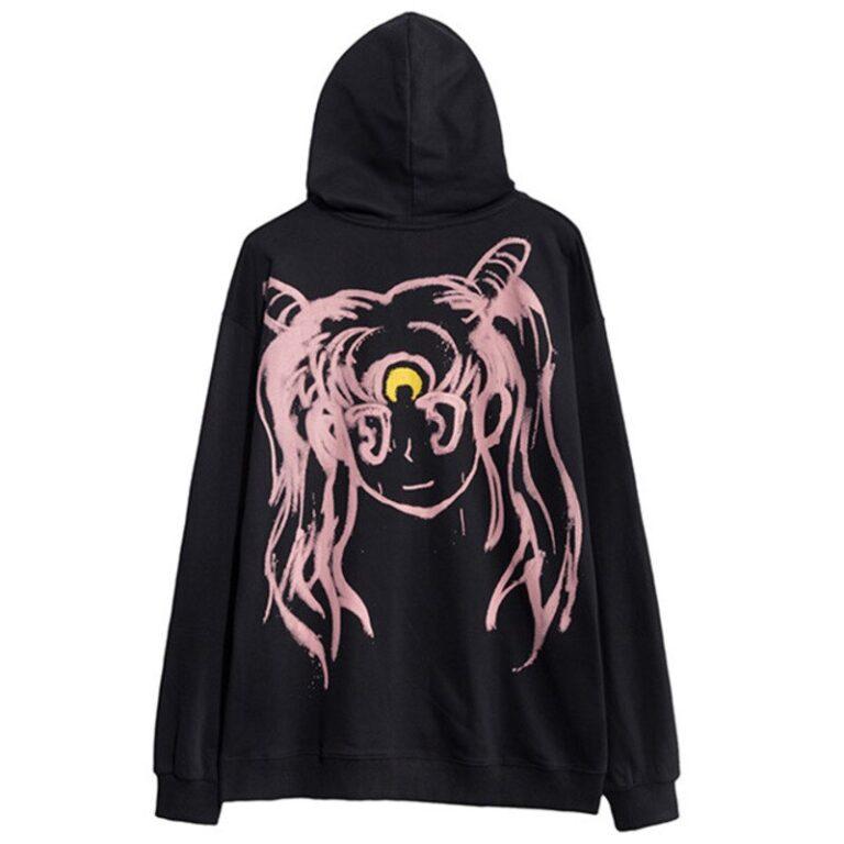 Sudadera kawaii del anime Sailor Moon con Bunny en la espalda 6
