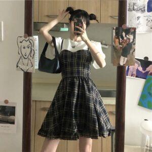 Conjunto de verano estilo coreano sin mangas