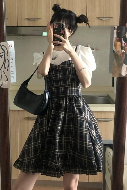 Conjunto de verano estilo coreano sin mangas 6