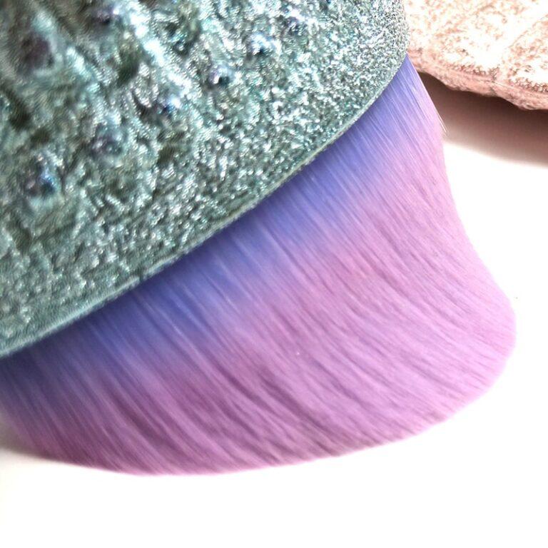 Brocha de maquillaje profesional de sirena, 1 ud., cola de pescado en polvo, herramientas cosméticas, brocha para esculpir 6