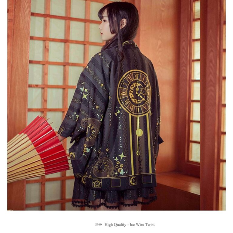Kimono negro y dorado 8