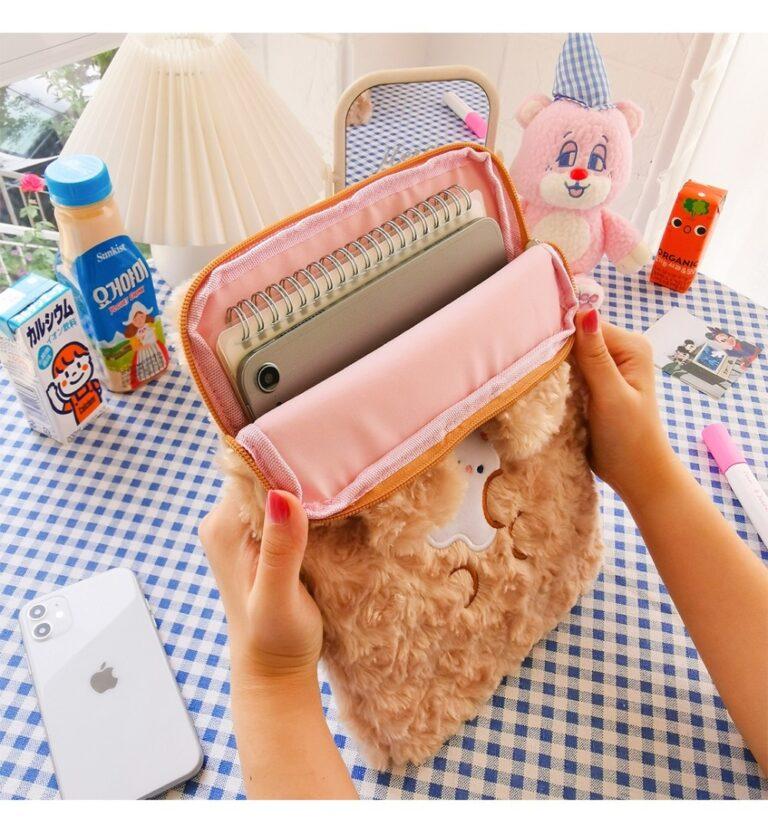 Tablet kılıf laptop saklama çantası Mac Ipad pro 9.7 11 13 inç karikatür tost kedi kollu astar çanta öğrenci kızlar 16