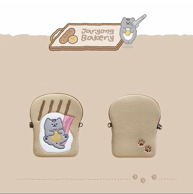 Tablet kılıf laptop saklama çantası Mac Ipad pro 9.7 11 13 inç karikatür tost kedi kollu astar çanta öğrenci kızlar 11