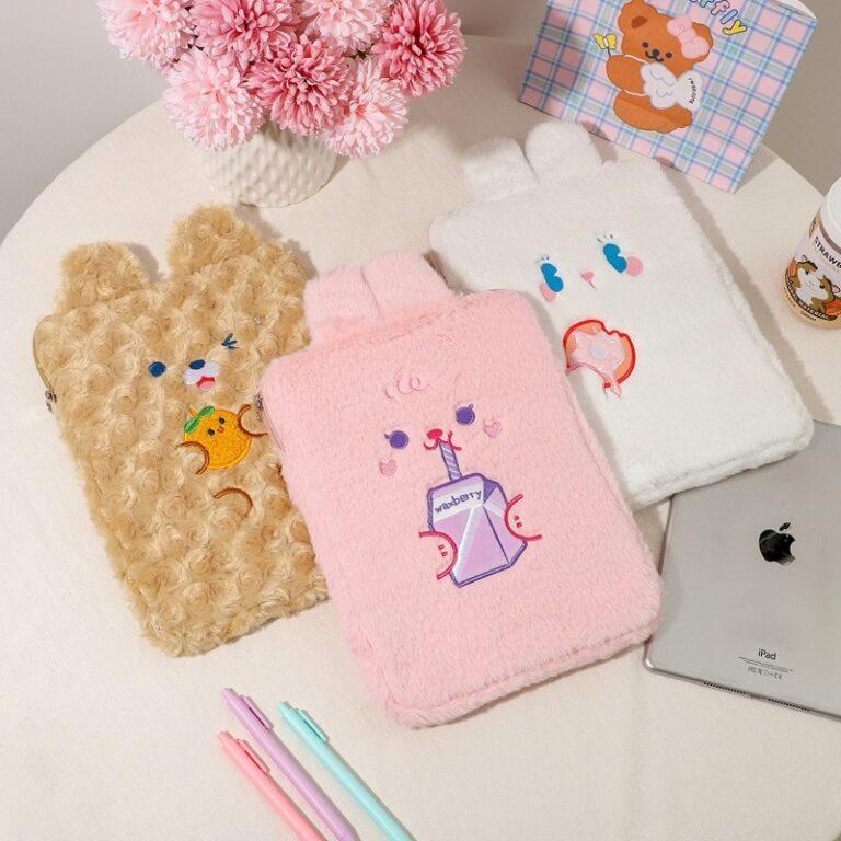 Tablet kılıf laptop saklama çantası Mac Ipad pro 9.7 11 13 inç karikatür tost kedi kollu astar çanta öğrenci kızlar 18