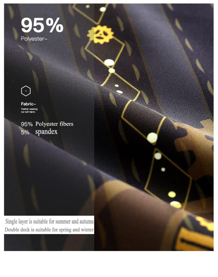 Kimono negro y dorado 9