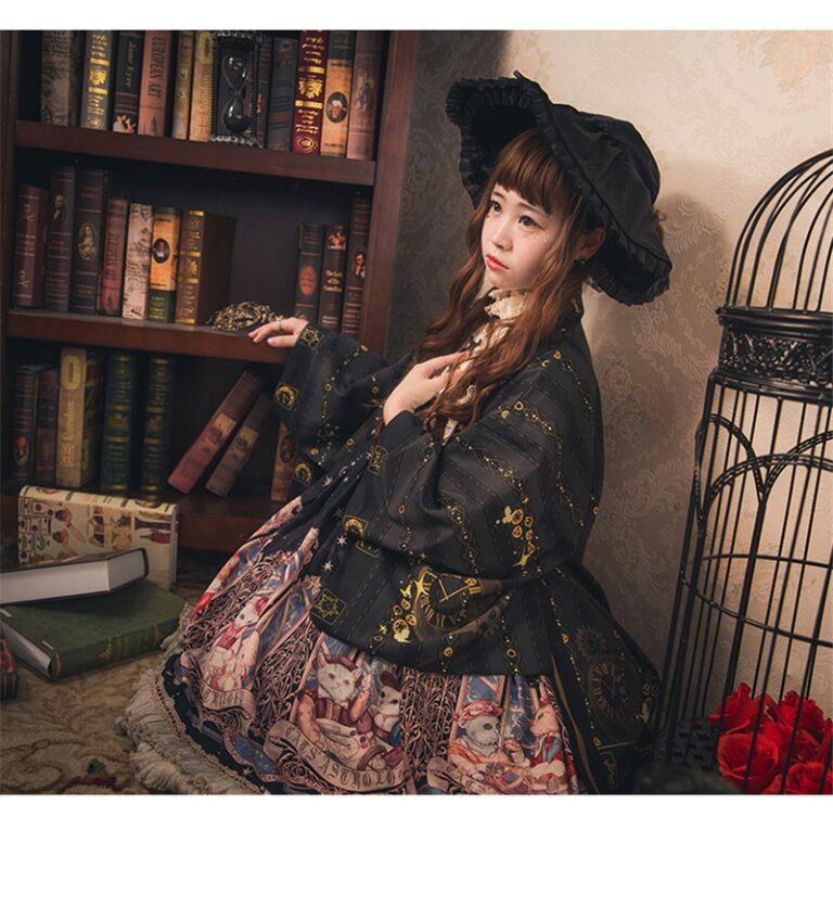 Kimono negro y dorado 7