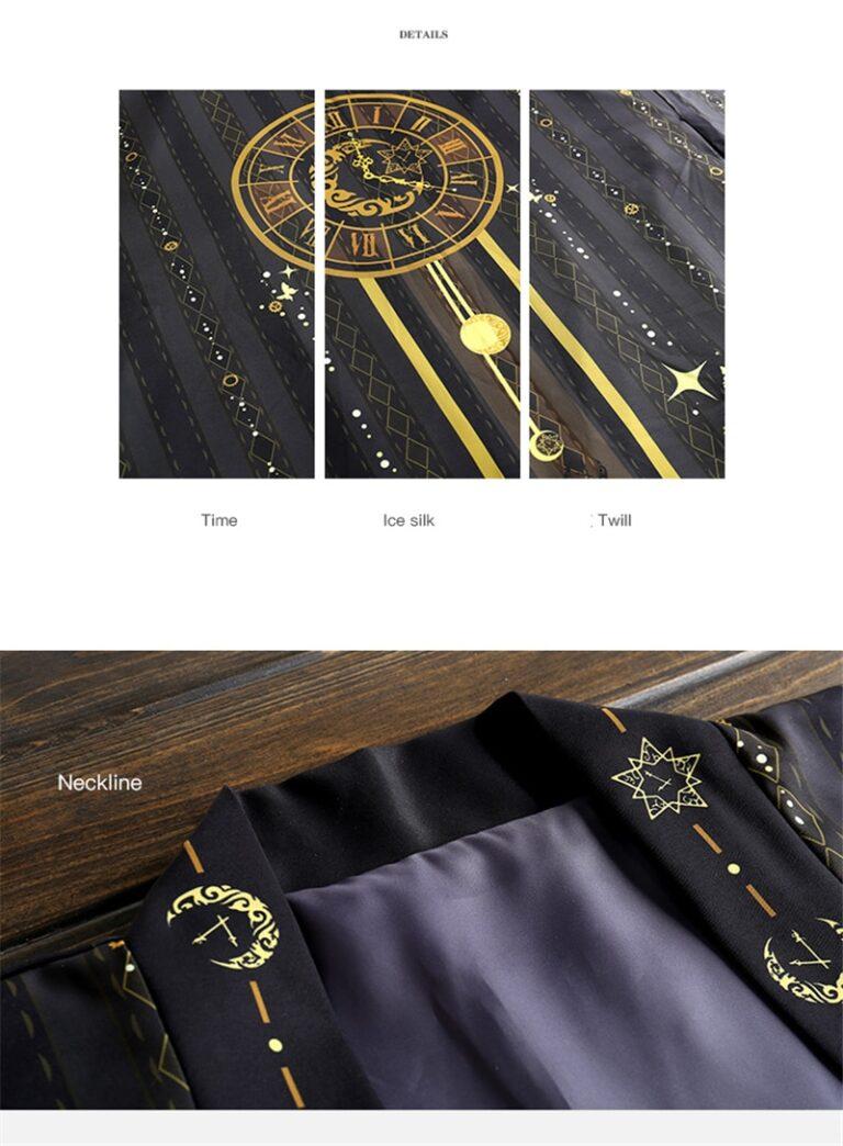 Kimono negro y dorado 10
