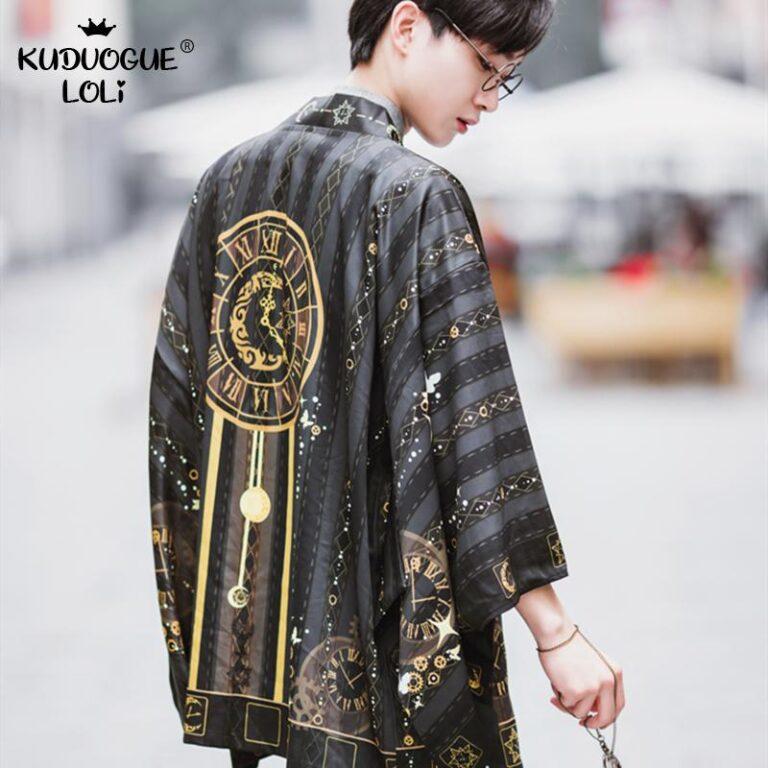 Kimono negro y dorado 3