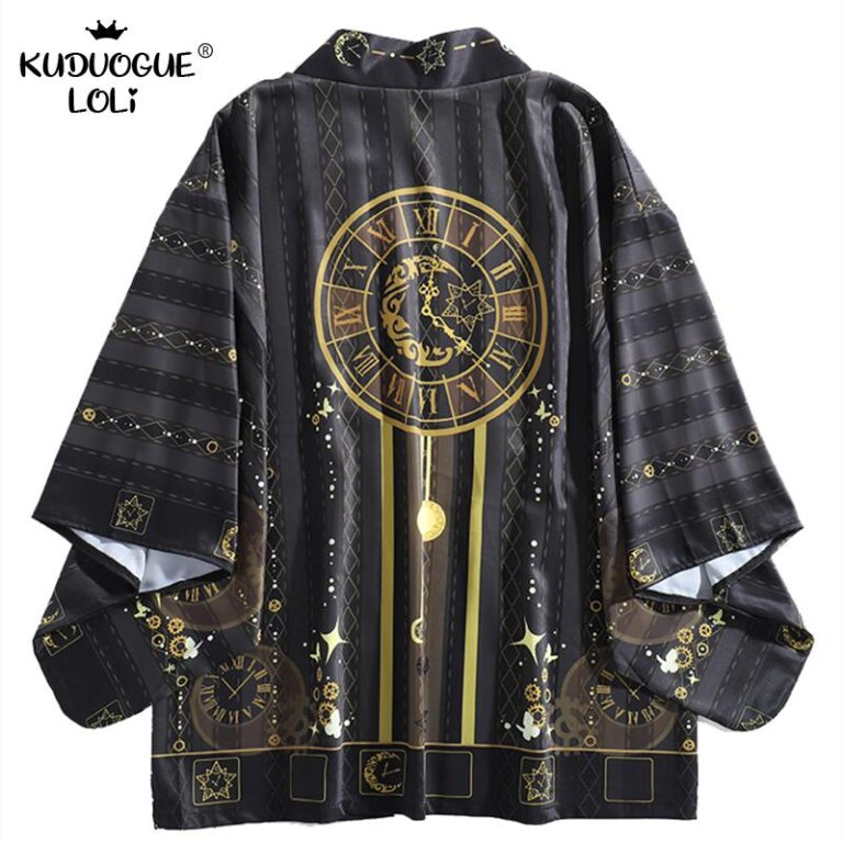 Kimono negro y dorado 4