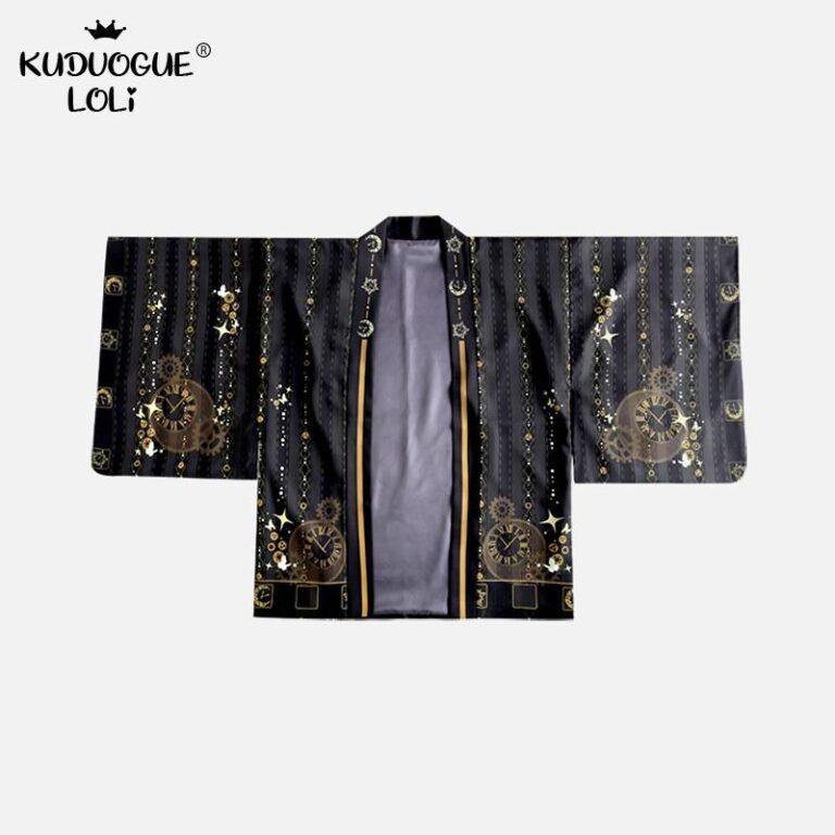 Kimono negro y dorado 5