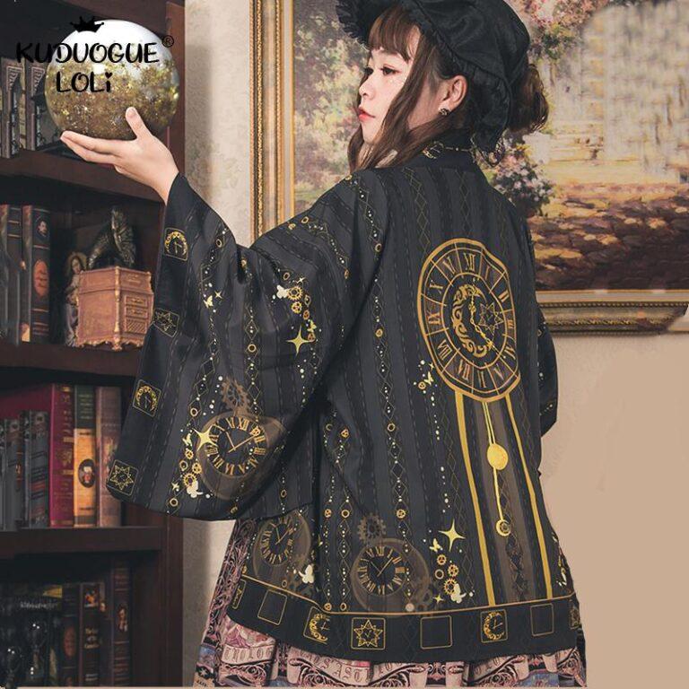 Kimono negro y dorado 1