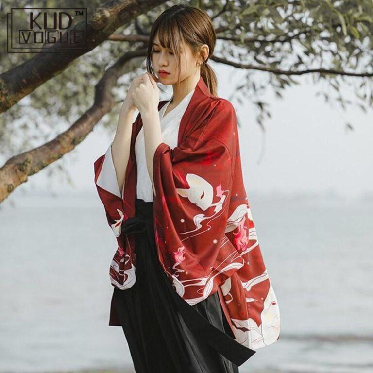 Yukata rojo y blanco 3