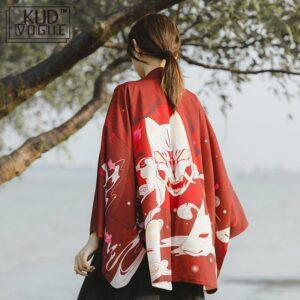 Yukata rojo y blanco
