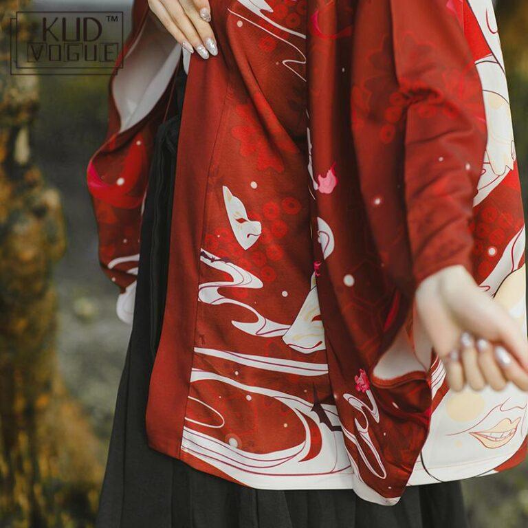 Yukata rojo y blanco 5