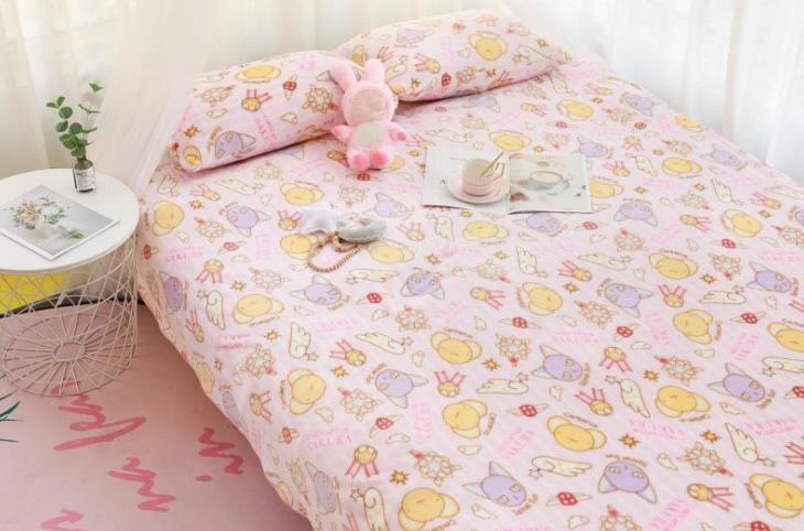 Manta de franela con dibujos de Sakura, funda de almohada de felpa, suave, peluches, regalos para novia, 1 Uds. 3