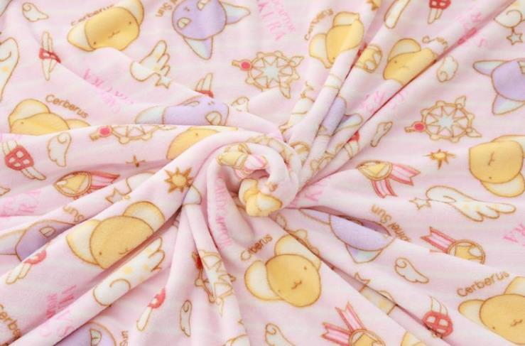 Manta de franela con dibujos de Sakura, funda de almohada de felpa, suave, peluches, regalos para novia, 1 Uds. 4
