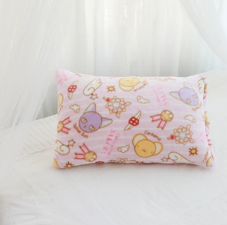 Manta de franela con dibujos de Sakura, funda de almohada de felpa, suave, peluches, regalos para novia, 1 Uds. 6