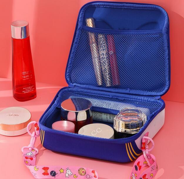 Sailor Moon-Bolso de hombro para chica, bolsa de maquillaje de gran capacidad para Cosplay, bolso de cosméticos, bolsa de viaje, regalo de Navidad 3