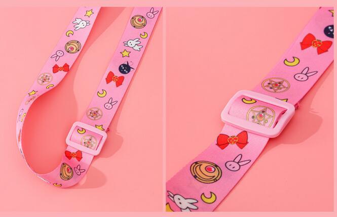 Sailor Moon-Bolso de hombro para chica, bolsa de maquillaje de gran capacidad para Cosplay, bolso de cosméticos, bolsa de viaje, regalo de Navidad 4