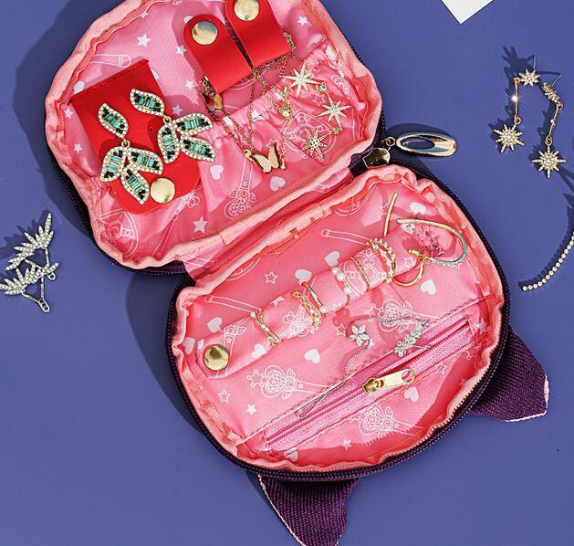 Sailor Moon-bolsa para guardar joyas de gato y Luna, bolsa de maquillaje de gran capacidad, para viaje, regalo de Navidad para chica 3