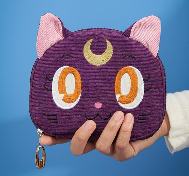 Sailor Moon-bolsa para guardar joyas de gato y Luna, bolsa de maquillaje de gran capacidad, para viaje, regalo de Navidad para chica 4