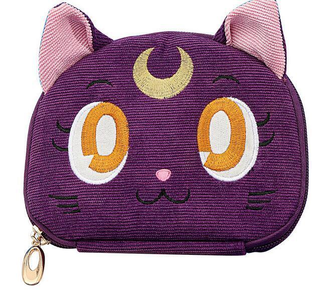 Sailor Moon-bolsa para guardar joyas de gato y Luna, bolsa de maquillaje de gran capacidad, para viaje, regalo de Navidad para chica 5