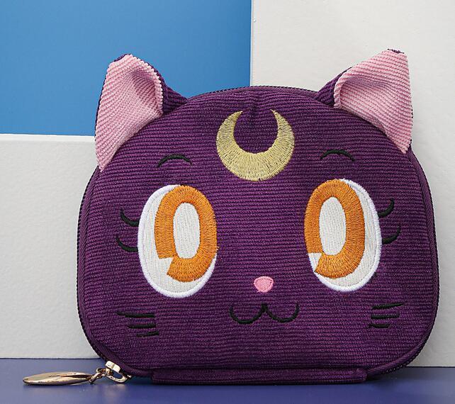 Sailor Moon-bolsa para guardar joyas de gato y Luna, bolsa de maquillaje de gran capacidad, para viaje, regalo de Navidad para chica 6
