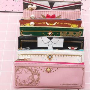 Sakura-estuche transparente para guardar tarjetas, estuche para guardar tarjetas, porta tarjetas