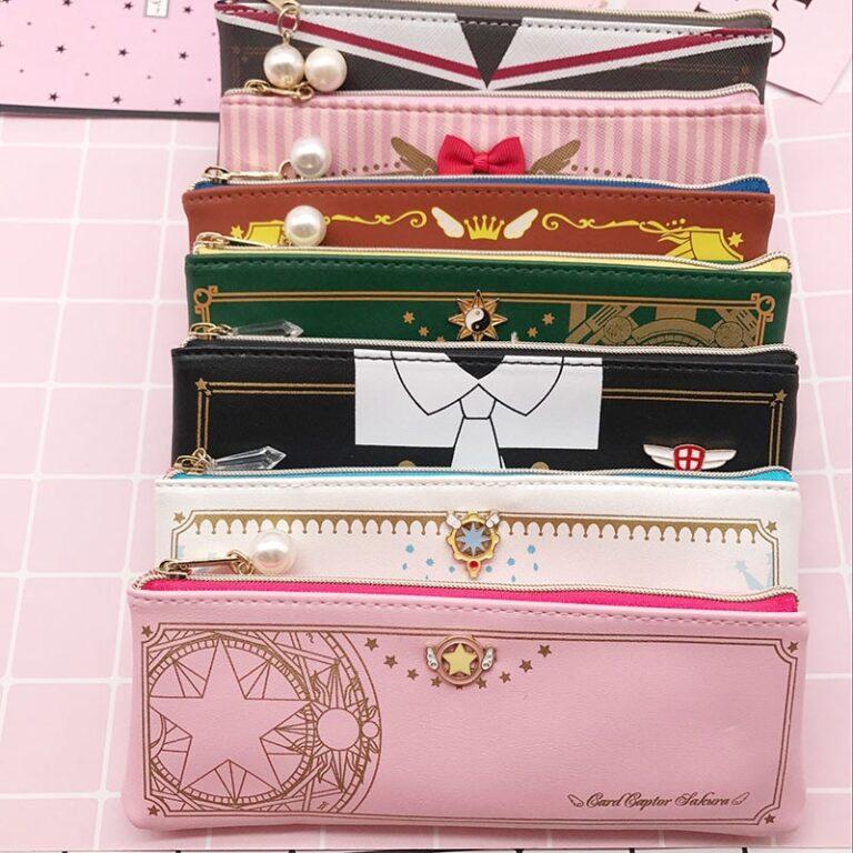 Sakura-estuche transparente para guardar tarjetas, estuche para guardar tarjetas, porta tarjetas 1